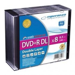 DVD+R Esperanza DL 8x 8,5GB (Slim 10)