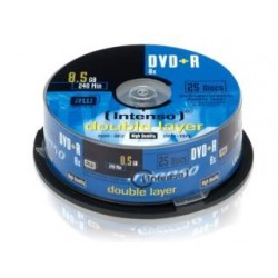 DVD+R Intenso 8.5GB X8 DOUBLE LAYER (25 CAKE)