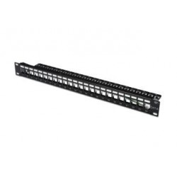 "Patch panel Digitus 19"" 24 porty 1U (RAL 9005)"