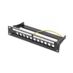 "Patch panel Digitus 10"" 12 portowy 1U (RAL 9005)"