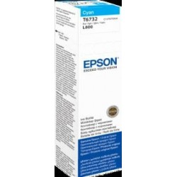 Atrament cyan w butelce 70 ml (T6732) do Epson L800/L850/L800/L850