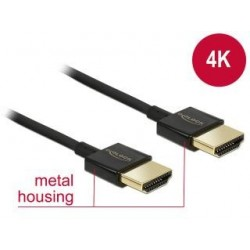 Kabel HDMI Delock HDMI High Speed Ethernet 4K 3D M/M Slim 4.5m