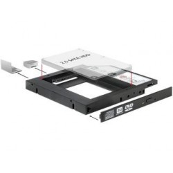"Adapter Delock ramka 5,25"" HDD2,5"" SLIM SATA (SSD 22pin)"
