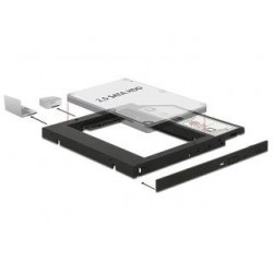 "Adapter Delock HDD Ramka 5.25""- 2.5"" SLIM 9.5MM ( HDD w miejsce CD/DVD w notebooku)"