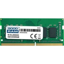 Pamięć DDR4 GOODRAM SODIMM 4GB 2666MHz  ded. do DELL (W-DL26S04G)