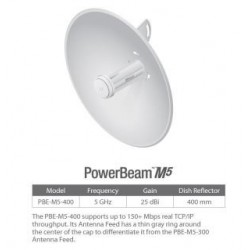 Access Point UBIQUITI PowerBeam M5 25dBi 5GHz 802.11n PoE High-Performance airMAX Bridge