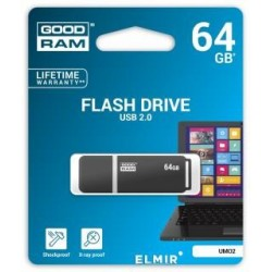 Pendrive GOODRAM 64GB UMO2 USB 2.0 Graphite