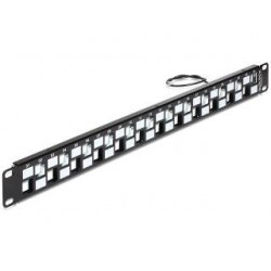Patch panel Delock 24 port 1U do modułów Keystone